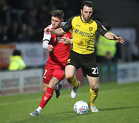 Fleetwood Town's Wes Burns  in action with Burton Albion's John-Joe O'Toole <br /> <br /> Photographer Mick Walker/CameraSport<br /> <br /> The EFL Sky Bet League One - Burton Albion v Fleetwood Town - Saturday 11th January 2020 - Pirelli Stadium - Burton upon Trent<br /> <br /> World Copyright © 2020 CameraSport. All rights reserved. 43 Linden Ave. Countesthorpe. Leicester. England. LE8 5PG - Tel: +44 (0) 116 277 4147 - admin@camerasport.com - www.camerasport.com