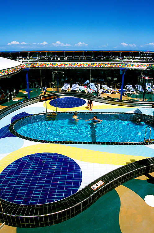 Cruise Ship: Carnival Spirit Upper Outdoor Deck, Photo: carniv102 .Photo copyright Lee Foster, 510/549-2202,  lee@fostertravel.com, www.fostertravel.com