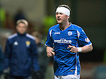 Partick Thistle v St Johnstone&hellip;23.02.16   SPFL   Firhill, Glasgow<br />Tam Scobbie bandaged up after a head knock<br />Picture by Graeme Hart.<br />Copyright Perthshire Picture Agency<br />Tel: 01738 623350  Mobile: 07990 594431