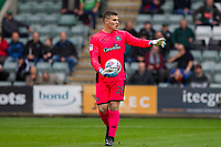 Kyle Letheren of Plymouth Argyle during the Sky Bet League 1 match between Plymouth Argyle and Fleetwood Town at Home Park, Plymouth, England on 7 October 2017. Photo by Mark  Hawkins / PRiME Media Images.