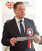 British National Party election manifesto launch for the May 3 London Assembly elections in East London, Great Britain <br /> 9th April 2012 <br /> <br /> Stephen Squire <br /> candidate and Regional Organiser for the whole of London<br /> <br /> <br /> Photograph by Elliott Franks