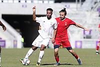 Orlando, Florida - Wednesday January 17, 2018: Mo Adams, Manuel Cordeiro. Match Day 3 of the 2018 adidas MLS Player Combine was held Orlando City Stadium.