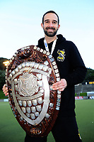 Capital captain Dane Lett after winning the men's National Hockey League final between Harbour and Capital at National Hockey Stadium in Wellington, New Zealand on Sunday, 23 September 2018. Photo: Dave Lintott / lintottphoto.co.nz