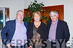 Dermot Clifford, Ellen Clifford and John O'Neill at the East Kerry victory social in the Killarney Heights on the 20th December