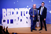 Luigi Di Maio and  Lino Banfi<br /> Rome January 22nd 2019. Convention of the Movement 5 Stars party to explain the Basic Income Law just approved.<br /> Foto Samantha Zucchi Insidefoto