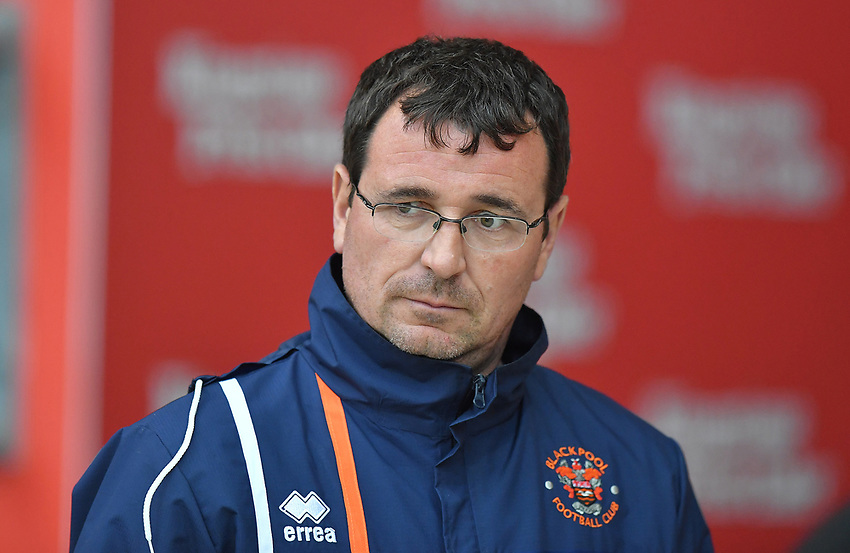Blackpool's Manager Gary Bowyer<br /> <br /> Photographer Dave Howarth/CameraSport<br /> <br /> The EFL Checkatrade Trophy - Blackpool v Wigan Athletic - Tuesday 29th August 2017 - Bloomfield Road - Blackpool<br />  <br /> World Copyright &copy; 2018 CameraSport. All rights reserved. 43 Linden Ave. Countesthorpe. Leicester. England. LE8 5PG - Tel: +44 (0) 116 277 4147 - admin@camerasport.com - www.camerasport.com