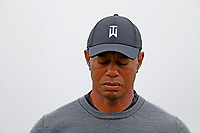 Tiger Woods (USA) walks off the first green dejected after missing a putt during the second round of the 118th U.S. Open Championship at Shinnecock Hills Golf Club in Southampton, NY, USA. 15th June 2018.<br /> Picture: Golffile | Brian Spurlock<br /> <br /> <br /> All photo usage must carry mandatory copyright credit (&copy; Golffile | Brian Spurlock)