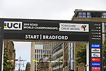 Bradford sign on for the start of the Women Elite Road Race of the UCI World Championships 2019 running 149.4km from Bradford to Harrogate, England. 28th September 2019.<br /> Picture: Eoin Clarke | Cyclefile<br /> <br /> All photos usage must carry mandatory copyright credit (© Cyclefile | Eoin Clarke)