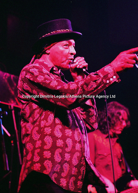 Pictured: Arthur Lee 08 February 2004<br /> Re: Love with Arthur Lee at the Coal Exchange, Cardiff, south Wales, UK.