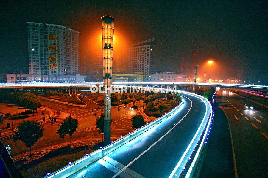 Sistema viário da cidade de Nanning. China. 2007. Foto de Flávio Bacellar.