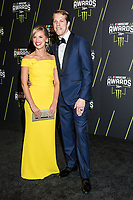 LAS VEGAS, NV - NOVEMBER 30: Paige Keselowski and Brad Keselowski arriving to the 2017 NASCAR Sprint Cup Awards at The Wynn Hotel & Casino in Las Vegas, Nevada on November 30, 2017. Credit: Damairs Carter/MediaPunch /NortePhoto NORTEPHOTOMEXICO