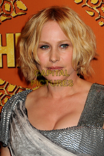 PATRICIA ARQUETTE .HBO's 2010 67th Golden Globe Awards Post Party held at the Beverly Hilton Hotel, Beverly Hills, California, USA..January 17th, 2009.globes headshot portrait silver beads beaded studs studded.CAP/ADM/BP.©Byron Purvis/Admedia/Capital Pictures