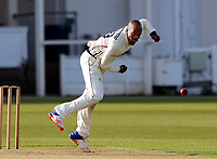 Daniel Bell-Drummond bowls for Kent during the friendly game between Kent CCC and Surrey at the St Lawrence Ground, Canterbury, on Thursday Apr 5, 2018