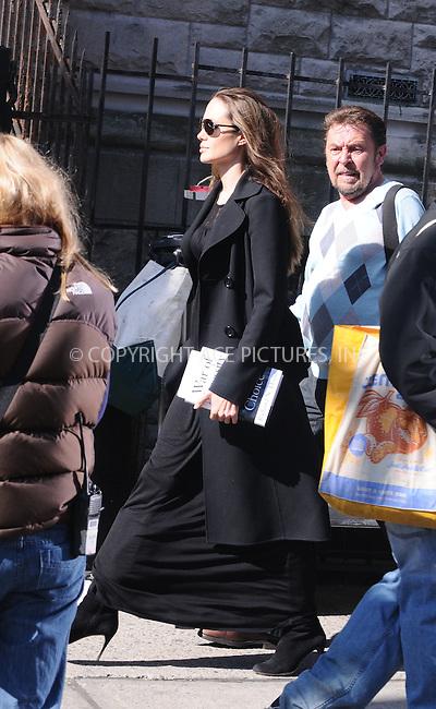 "WWW.ACEPIXS.COM . . . . .  ....April 23 2009, New York City....Actress Angelina Jolie on the Manhattan set of the new movie 'Salt"" on April 23 2009 in New York City....Please byline: AJ Sokalner - ACEPIXS.COM..... *** ***..Ace Pictures, Inc:  ..tel: (212) 243 8787..e-mail: info@acepixs.com..web: http://www.acepixs.com"
