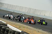 28 June, 2008, Tracy, California, USA.Tight racing in the midget series..©2008 F.Peirce Williams, USA.F. Peirce Williams.photography.