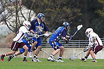 Los Angeles, CA 02/18/11 - Tanner Tagg (BYU #33), Patrick Matheson (BYU #18) and \l18\ in action during the Loyola Marymount - BYU game at LMU.