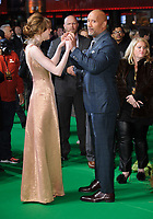 Karen Gillan and Dwayne Johnson<br /> arriving for the &quot;Jumanji: Welcome to the Jungle&quot; premiere at the Vue West End, Leicester Square, London<br /> <br /> <br /> &copy;Ash Knotek  D3358  07/12/2017