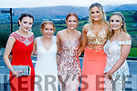 Blaithin Sheehy, Hannah Leahy, Maeve Fitzgerald, Hilary Ashe and Jenna Ferriter, Pobalscoil Chorca Dhuibhne, pictured at the TY Ball at Ballyroe Heights Hotel, Tralee, on Saturday night last.