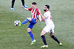 Atletico de Madrid's Kevin Gameiro (l) and Sevilla FC's Adil Rami during La Liga match. March 19,2017. (ALTERPHOTOS/Acero)