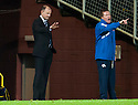 Killie manager Allan Johnston and assistant manager Gary Locke shout their instructions.