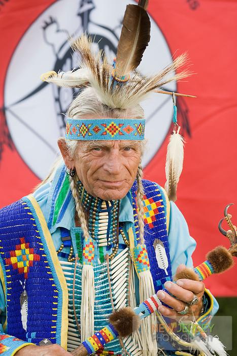 Seneca Native American Indian Elder, in full Regalia, New Jersey