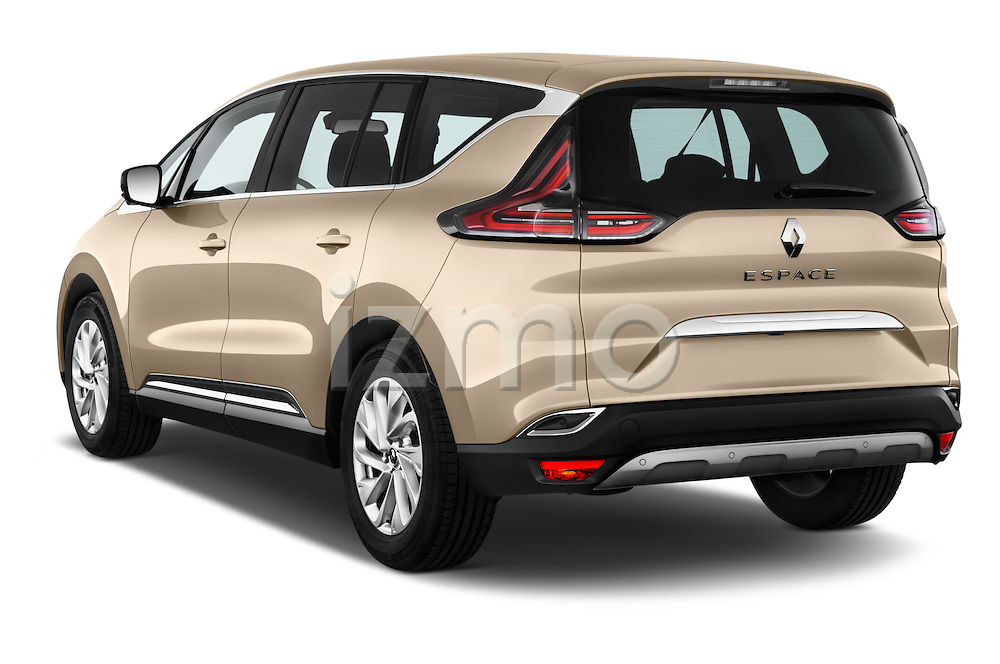 Car pictures of rear three quarter view of 2015 Renault Espace Intens 5 Door Minivan Angular Rear