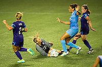 Orlando, FL - Saturday July 16, 2016: Kaitlyn Savage, Cara Walls during a regular season National Women's Soccer League (NWSL) match between the Orlando Pride and the Chicago Red Stars at Camping World Stadium.