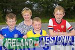 Darragh, Verona, Kieran and Neilus  Mackessy pictured at the Ireland v Estonia U-16 International friendly at Pat Kennedy Park Listowel on Tuesday