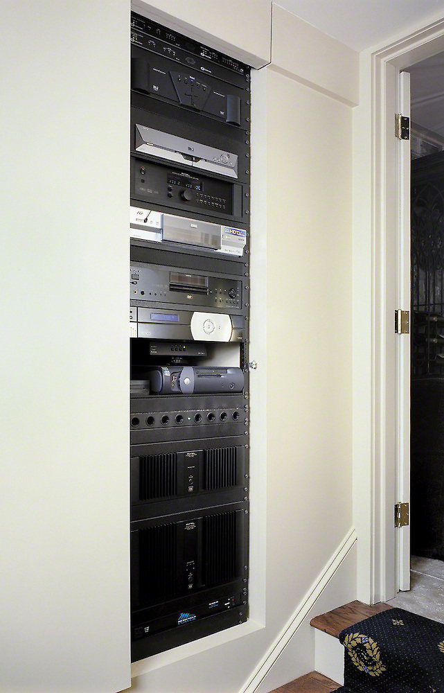 Space Saving In Wall Rack Install