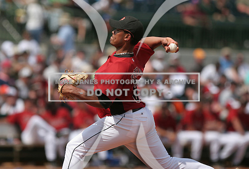 Paul Estrada of the Houston Astros vs. the Florida Marlins March 15th, 2007 at Osceola County Stadium in Kissimmee, FL during Spring Training action.  Photo copyright Mike Janes Photography 2007.