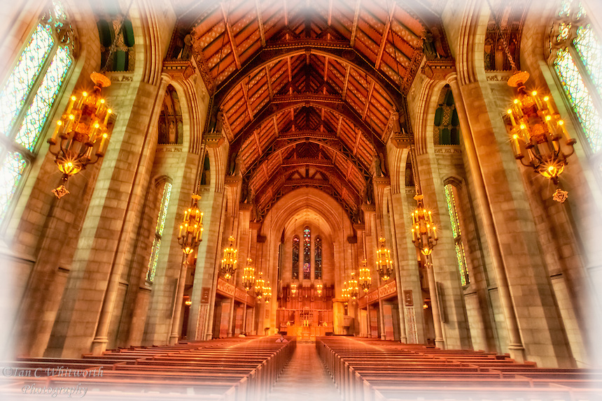 A view inside the Fourth Presbyterian Church in Chicago.