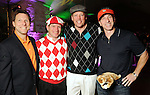 "From left: Kevin Whalen, J.B. Fairbanks, Michael Holthouse and George Diaz at the ""Be the Ball"" annual benefit holiday bash supporting Glasstire and Fresh Arts Coalition at the Herman Park Golf Course Friday Jan. 22,2010.(Dave Rossman/For the Chronicle)"