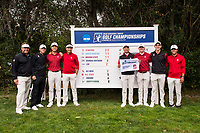 STANFORD, CA -- May 15, 2019. The Stanford Cardinal men's golf team wins overall after Round 3 of the NCAA Regionals at Stanford University Golf Course.
