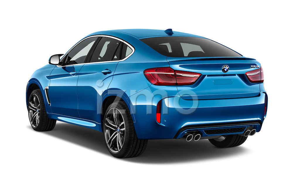 Car pictures of rear three quarter view of a 2015 BMW X6 M 4 Door SUV angular rear