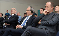 20161216 - AMSTERDAM , NETHERLANDS : illustriaton picture of audience with KNVB President Michael Van Praag (left) and Uefa Giorgio Marchetti (middle) during the UEFA EURO 2020 Host City Logo Launch event at the Hermitage Amsterdam Venue in Amsterdam , The Netherlands , Friday 16 th December 2016 . PHOTO UEFA.COM | SPORTPIX.BE | DAVID CATRY