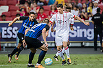 Bayern Munich Forward Robert Lewandowski (R) in action during the International Champions Cup match between FC Bayern and FC Internazionale at National Stadium on July 27, 2017 in Singapore. Photo by Marcio Rodrigo Machado / Power Sport Images