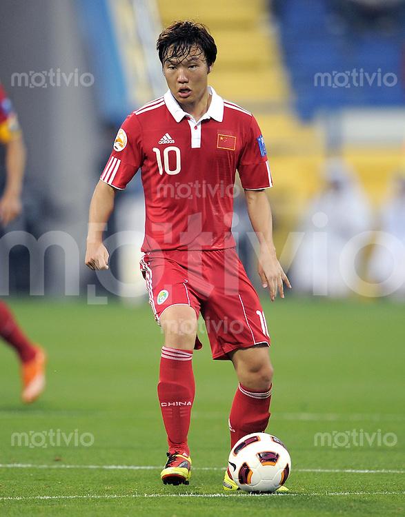 Fussball AFC Asian Cup 2011    08.01.2011 Kuwait - China Zhuoxiang Deng (China)