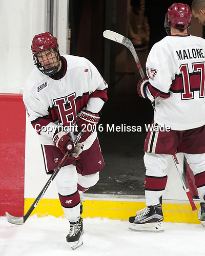 first star - h2[ - The Harvard University Crimson defeated the visiting Boston College Eagles 5-2 on Friday, November 18, 2016, at the Bright-Landry Hockey Center in Boston, Massachusetts.