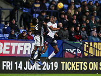 Bolton Wanderers' Sammy Ameobi competing with Reading's Andy Yiadom  <br /> <br /> Photographer Andrew Kearns/CameraSport<br /> <br /> The EFL Sky Bet Championship - Bolton Wanderers v Reading - Tuesday 29th January 2019 - University of Bolton Stadium - Bolton<br /> <br /> World Copyright © 2019 CameraSport. All rights reserved. 43 Linden Ave. Countesthorpe. Leicester. England. LE8 5PG - Tel: +44 (0) 116 277 4147 - admin@camerasport.com - www.camerasport.com