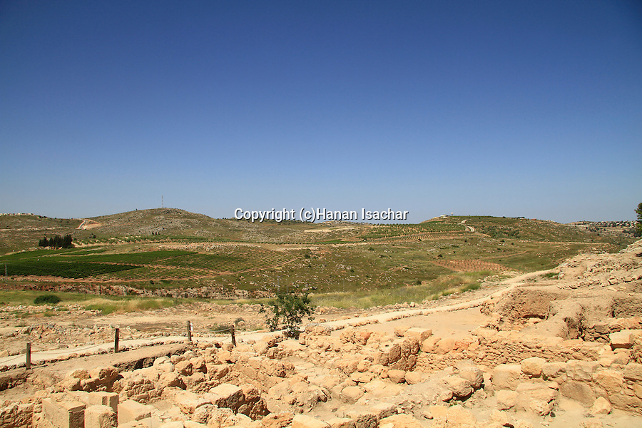 Samaria, ruins from the Roman-Byzantine period in Tel Shiloh