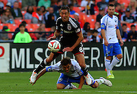 WASHINGTON, D.C - May 17 2014: D.C. United vs the Montreal Impact in an MLS match at RFK Stadium, in Washington D.C. The game ended in a 1-1 tie.