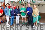 Sheila, Daihi, Ellen and Jane McGillicuddy and Pat Moynihan presents the Austin Stack captain Shane Bastible the Niall McGillicuddy memorial football blitz  shiield in Killarney on Saturday