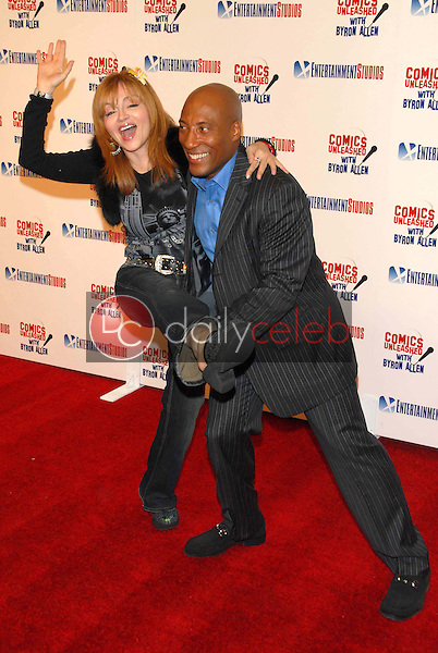 Judy Tenuta and Byron Allen<br />at the television premiere party for the show &quot;Comics Unleashed&quot;. Sunset Gower Studios Stage 9, Hollywood, CA. 09-25-06<br />Dave Edwards/DailyCeleb.com 818-249-4998