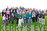 The large crowd at the Ross Golf club captains drive on Sunday morning front l-r: Aidan O'Connor Captain, Mary Cronin Lady Captain and Ambrose O'Donovan President