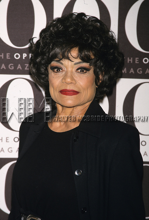 Eartha Kitt pictured at O the oprah magazine launch party at the Metro Pavilion in New York City on April 17, 2000.