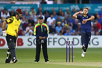 Jamie Porter in bowling action for Essex during Essex Eagles vs Somerset, NatWest T20 Blast Cricket at The Cloudfm County Ground on 13th July 2017