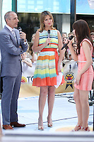Carly Rae Jepsen interviewd by Matt Lauer and Savannah Guthrie on NBC's Today Show Toyota Concert Series at Rockefeller Center in New York City. August 23, 2012. © RW/MediaPunch Inc.