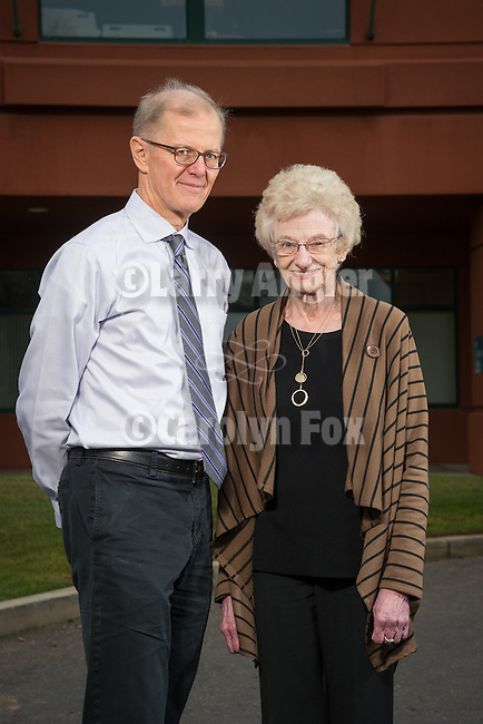 Dr. Robert Hartman and Shirley Bruns, Sutter Amador Hospital