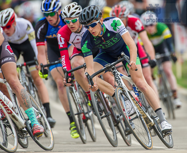 Apr. 13, 2014; Notre Dame Collegiate Cycling Classic criterium.  The event was also a fundraiser for the Ara Parseghian Medical Research Foundation.<br /> <br /> Photo by Matt Cashore