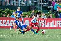 Boston, MA - Friday July 07, 2017: Rosie White and Christen Press during a regular season National Women's Soccer League (NWSL) match between the Boston Breakers and the Chicago Red Stars at Jordan Field.